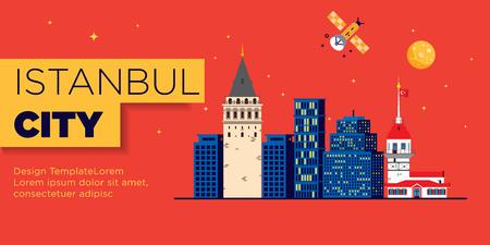 Istanbul Web Banner Graphic Template Illusztráció