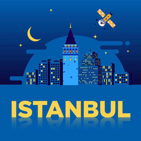Galata Tower, Istanbul Poster Design Illustration