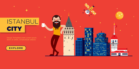 Istanbul Web Banner Graphic Template Illustration
