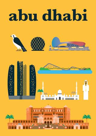 Abu Dhabi Infographic Template Design