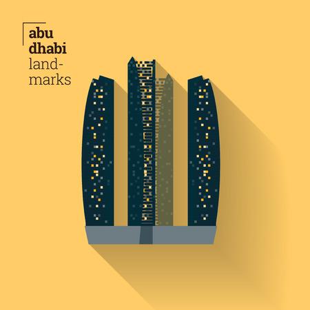 Landmark of Abu Dhabi Poster Design