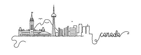 Canada City Skyline Doodle Sign