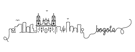 Bogota City Skyline Doodle Sign