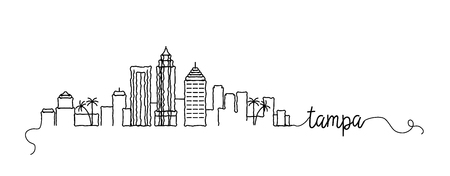 Tampa City Skyline Doodle Sign