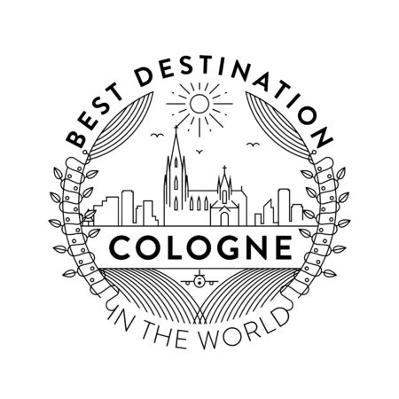 Vector Cologne City Badge, Linear Style