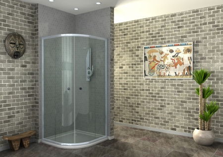 rendering of walk-in shower photo
