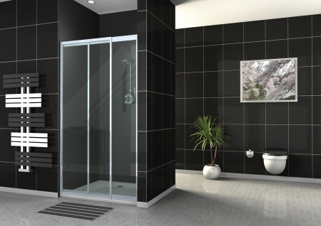 cabina de ducha Foto de archivo