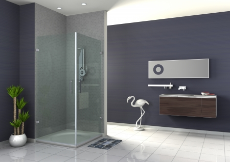 bathroom tile: walk-in shower