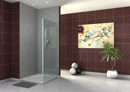walk-in shower