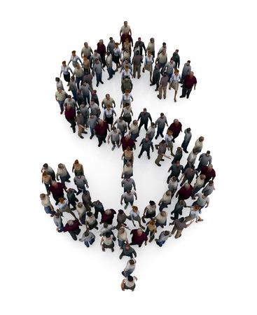 oneness: dollar icon Stock Photo