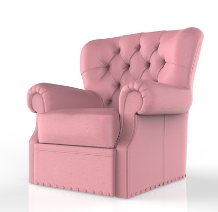 guest house: pink leather seat