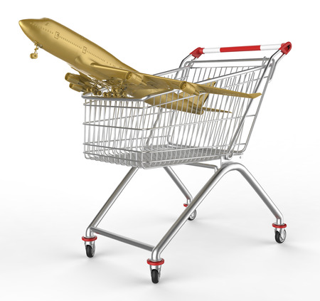 shop cart and aircraft photo