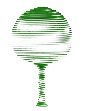 defamation: green tree on a white background