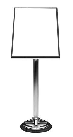 Display Advertising Stand Stock Photo