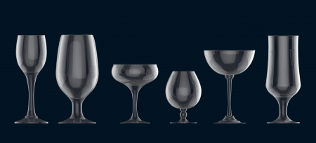 Cocktail glass set photo