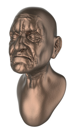 bust: old man bust Stock Photo