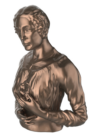 bust: woman bust on a white background