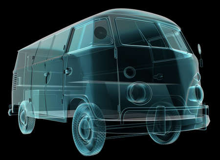 ini: retro vans technical details Stock Photo