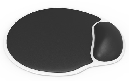 Ergonomic mouse pad isolated on a white background photo