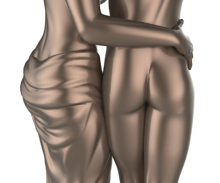 Sexy jeune couple statue photo