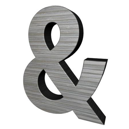 Ampersand signo de madera