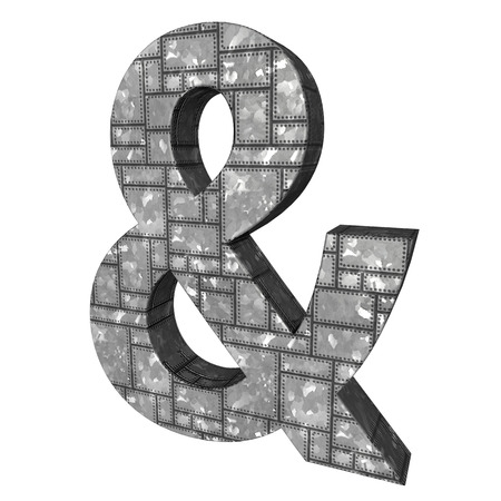 Ampersand sign metal photo