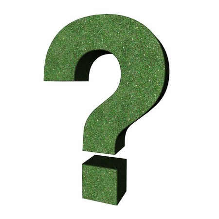 be careful: grass question mark sign