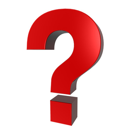 be careful: red question mark sign