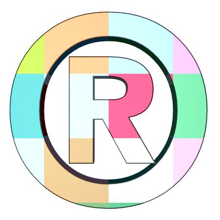 dispensation: registered trade mark colored