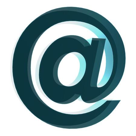 s�mbolo de correo electr�nico azul Foto de archivo