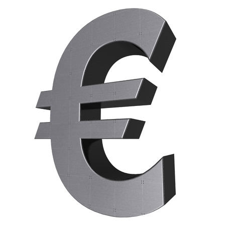 3d sign collection - euro Stock Photo