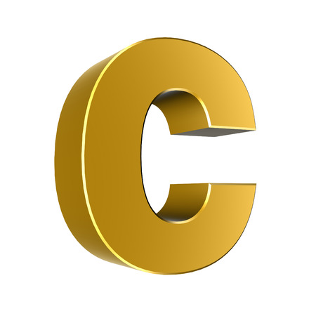 cases: 3d letter collection - Small cases - c Stock Photo