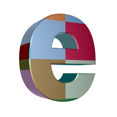 cases: 3d letter collection - Small cases - e