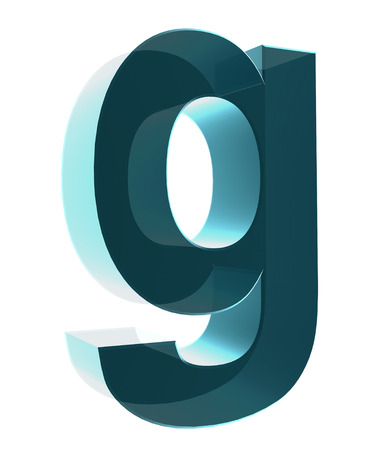 cases: 3d letter collection - Small cases - g Stock Photo