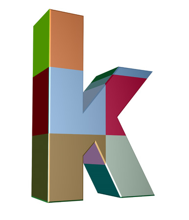 cases: 3d letter collection - Small cases - k