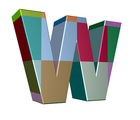 cases: 3d letter collection - Small cases - w