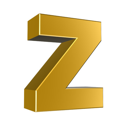cases: 3d letter collection - Small cases - z Stock Photo
