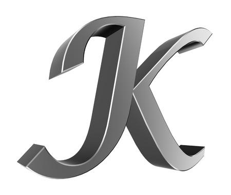 Colecci�n Carta 3D - K Foto de archivo