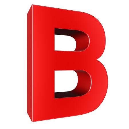 letter b: 3d letter collection - B