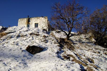 paysage: snowy village