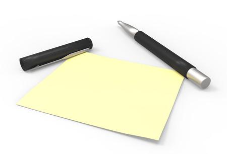 defamation: pen and sticky note