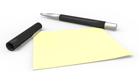 defamation: pen and sticky note