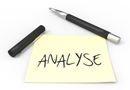 defamation: pen and analysis Stock Photo
