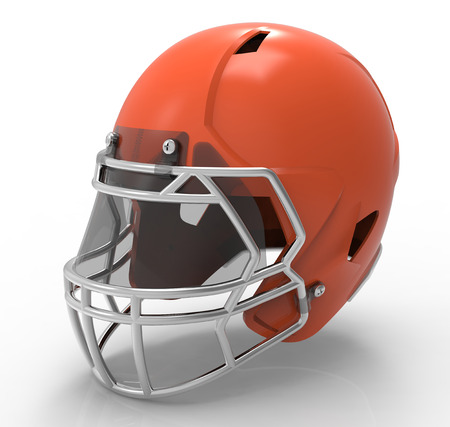 American football helmet isolated on a white background