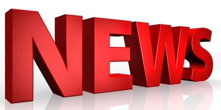 3D News word on white isolated background Stock Photo