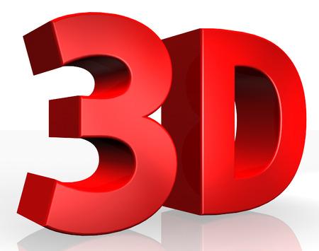 Texto en 3D sobre fondo blanco