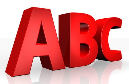 studio b: 3D abc text on white background