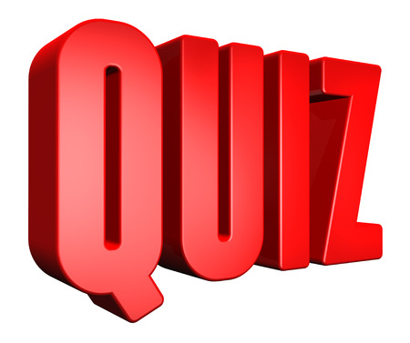 3D quiz text on white background