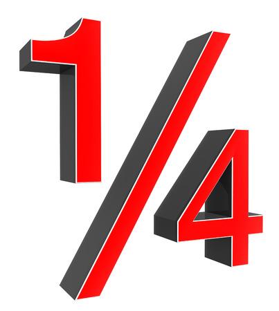 fraction: quarter fraction