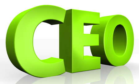 3D ceo text on white background photo